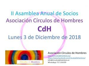 II Asamblea Anual Socios Círculos de Hombres