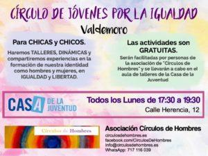 Círculo de Jóvenes por la Igualdad (VALDEMORO - espacio permanente) @ Casa de La Juventud | Valdemoro | Comunidad de Madrid | España