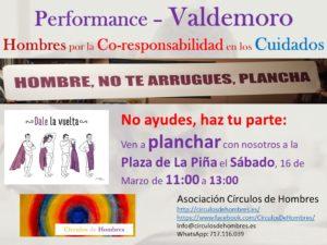 """Performance """"Hombre no te arrugues, plancha"""" (Valdemoro) @ Plaza de la Piña (Valdemoro)   Valdemoro   Comunidad de Madrid   España"""