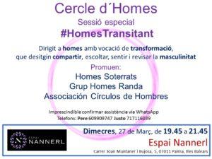 Sesión especial Círculo de Hombres #HomesTransitant (Palma de Mallorca) @ Espai Nannerl | Palma | Illes Balears | España