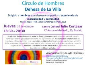 Sesión Círculo de Hombres Dehesa de La Villa (Madrid) @ Centro Cultural Julio Cortázar | Madrid | Comunidad de Madrid | España