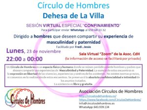 Círculo de Hombres Dehesa de La Villa - Sesión virtual