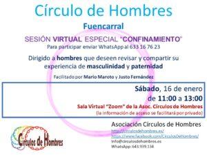 """Sesión """"virtual"""" Círculo de Hombres de Fuencarral"""